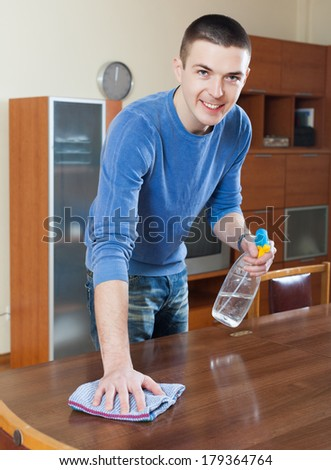 Cleaning table stock images royalty free images vectors for Cleaning living room furniture