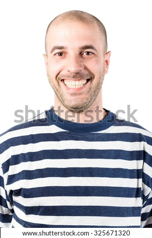 smiling man portrait - stock photo