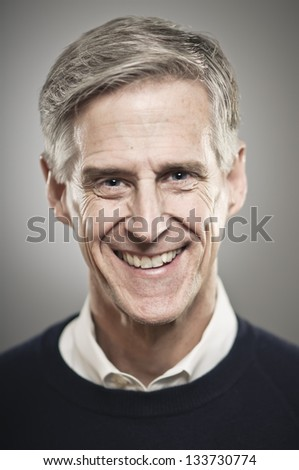 Smiling Older Gentleman - stock photo