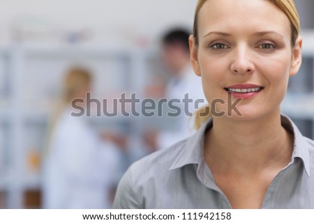 Smiling patient in hospital ward - stock photo