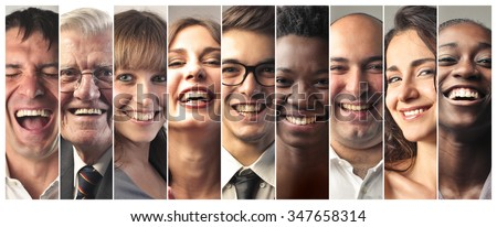 Smiling people - stock photo