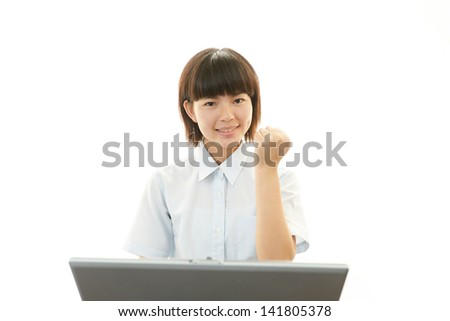 Smiling teen girl - stock photo