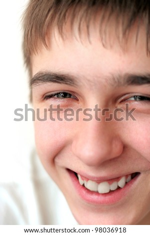 smiling teenager face close up