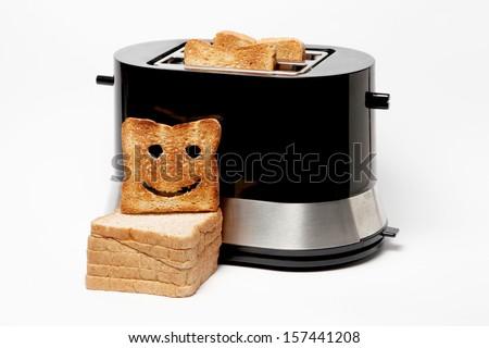 smiling toaster - stock photo