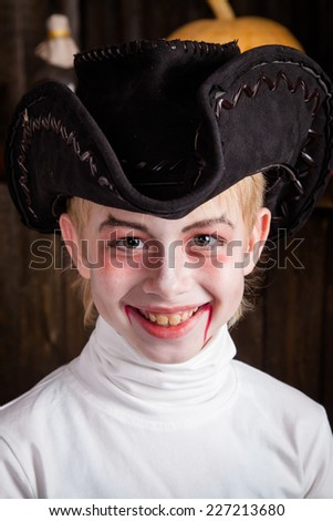 Smiling Vampire for Halloween - stock photo
