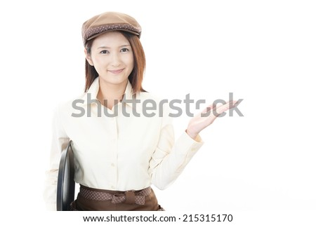 Smiling waitress