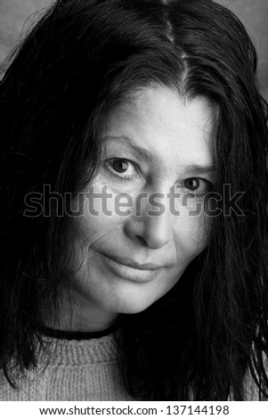 Smiling woman - stock photo