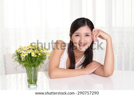 Smiling woman - stock photo
