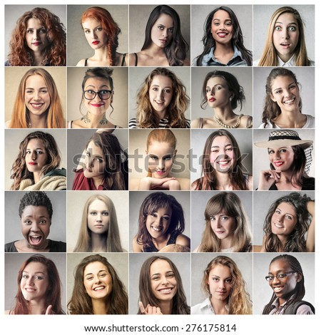Smiling women - stock photo