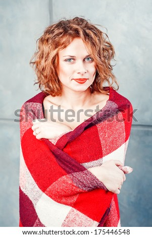 smiling women with blanket
