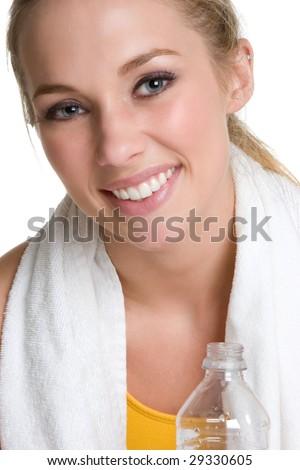 Smiling Workout Girl - stock photo