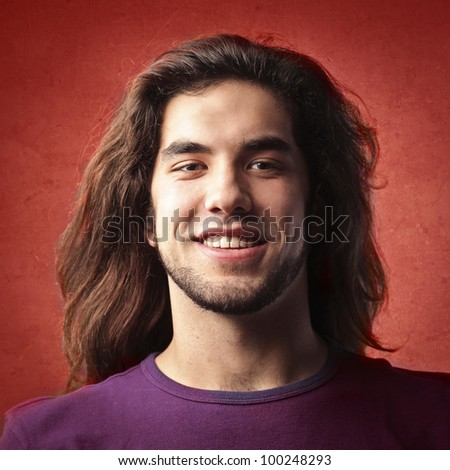 Smiling young handsome man