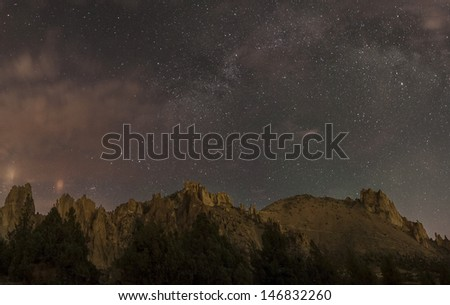 Smith Rock State Park - stock photo