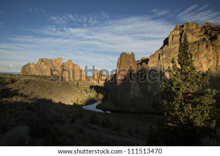 Smith Rock State Park, central Oregon - stock photo