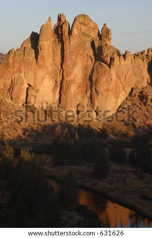 Smith Rock State Park Sunrise - stock photo