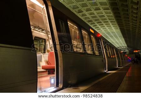 Smithsonian Metro station in Washington DC, United States - stock photo
