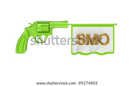 SMO concept.Isolated on white background.3d rendered. - stock photo