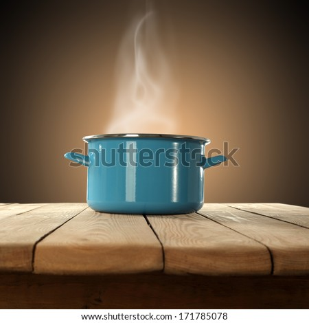 smoke and pot  - stock photo