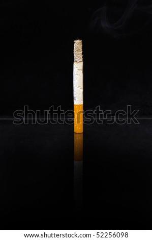 Smoke and sigarette - stock photo