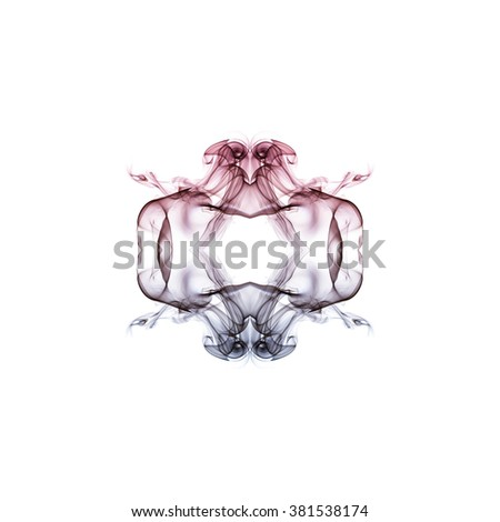 SMOKE ART on WHITE BACKGROUND