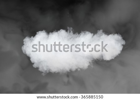 smoke cloud backdrop against fog background - stock photo