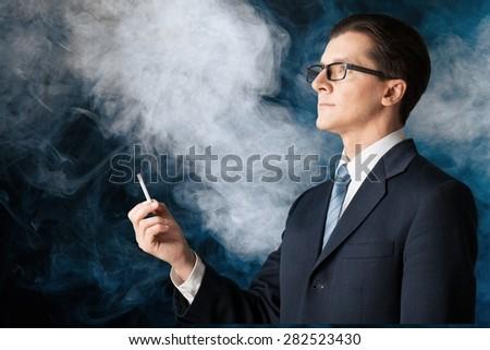 Smoke, cloud, fume. - stock photo