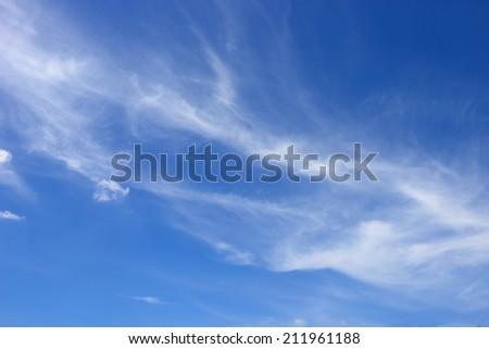 Smoke clouds on blue sky background