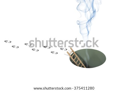 Smoke from Hole and Footsteps