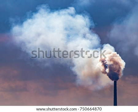 Smoke from pipes from a metallurgical plant