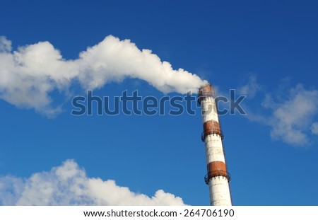 smoke from the chimney - stock photo