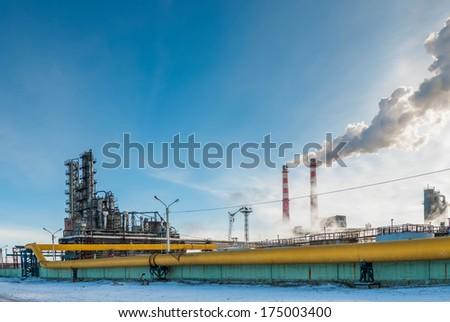 Smoke from the chimneys Coke - stock photo