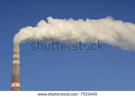 smoke from the pipes of power-station