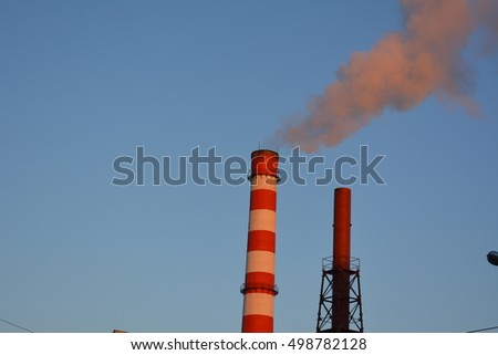 smoke from the striped tube combined heat and power, heat, pollution