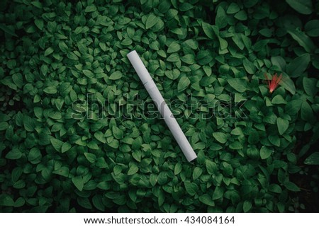 Smoke in the nature - stock photo