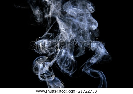 smoke isolated on a black background