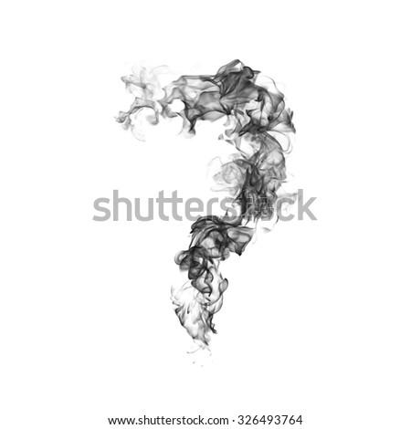 Smoke Number 7  - stock photo