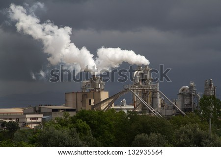 smoke of factory