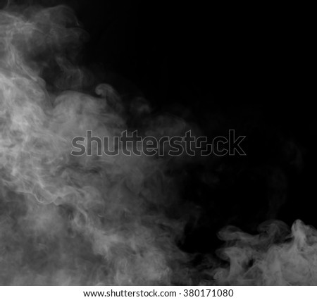 Smoke on black background,Motion blur