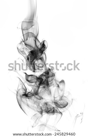 Smoke on white background. - stock photo