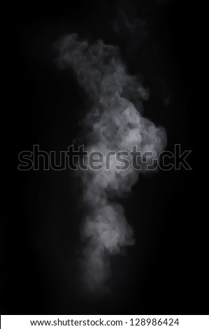 Smoke over the black background - stock photo