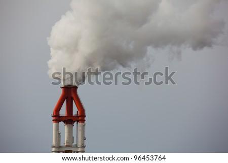 smoke pipe - stock photo