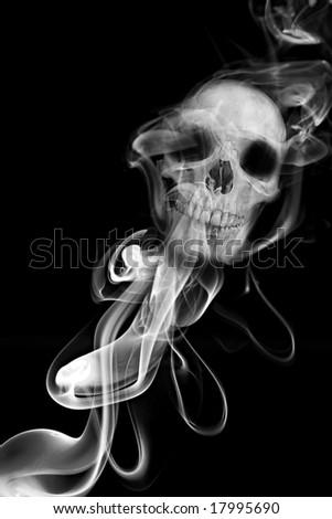 Smoke Skull - Smoking kills - stock photo