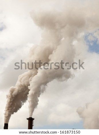 smoke stack from sugar mill from Tully North Queensland