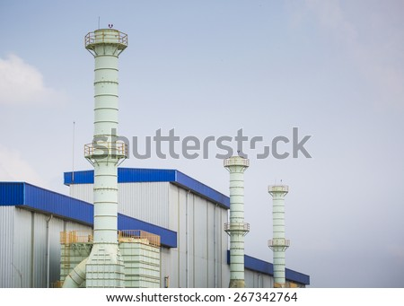 Smoke stack in factory