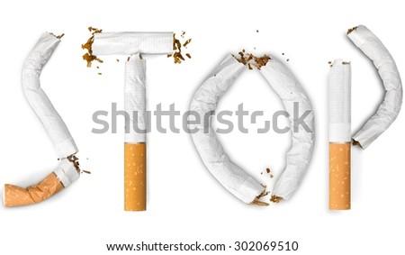 Smoke, stop, quit. - stock photo
