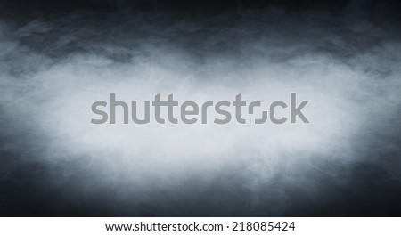Smoke texture over blank black background - stock photo