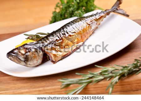 Smoked mackerel - stock photo