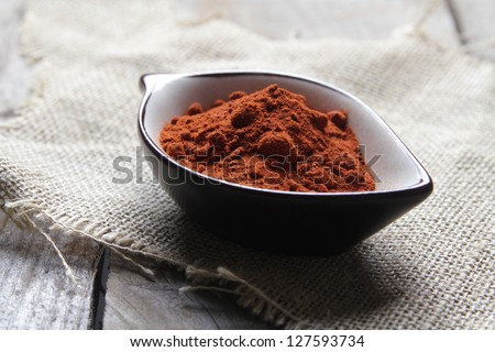 smoked paprika powder traditional condiment for spanish chorizo and others traditional spanish foods. Used too in Indian cuisine - stock photo