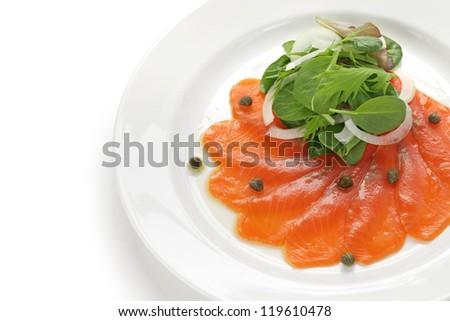 smoked salmon salad - stock photo