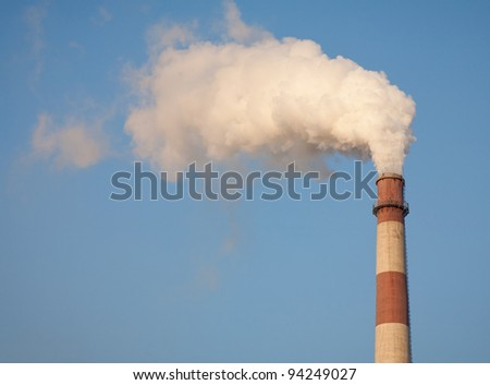 Smokestack Pollution in the air
